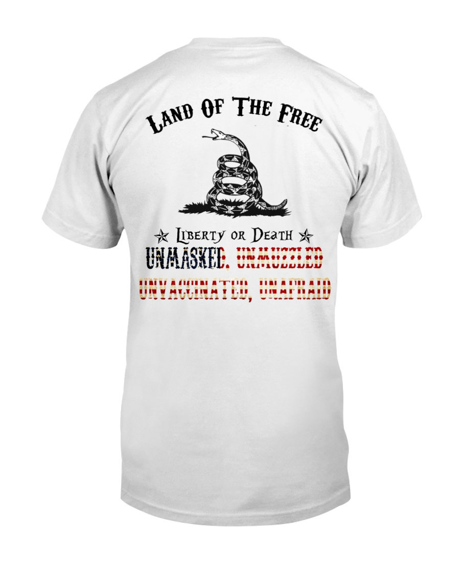 Snake Land Of THe Free Liberty Of Death Unmasked Shirt 21
