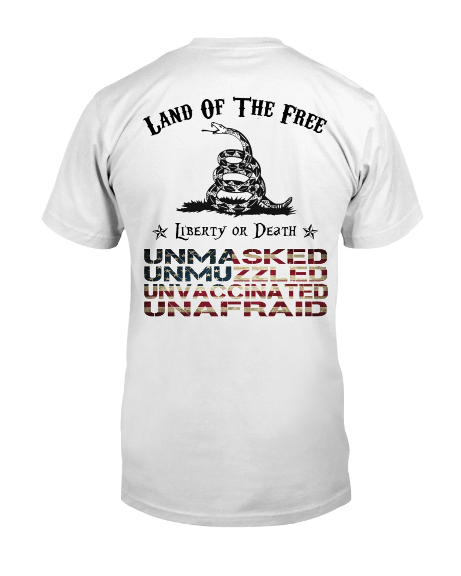 Snake Land Of The Free Liberty Or Death Shirt 21