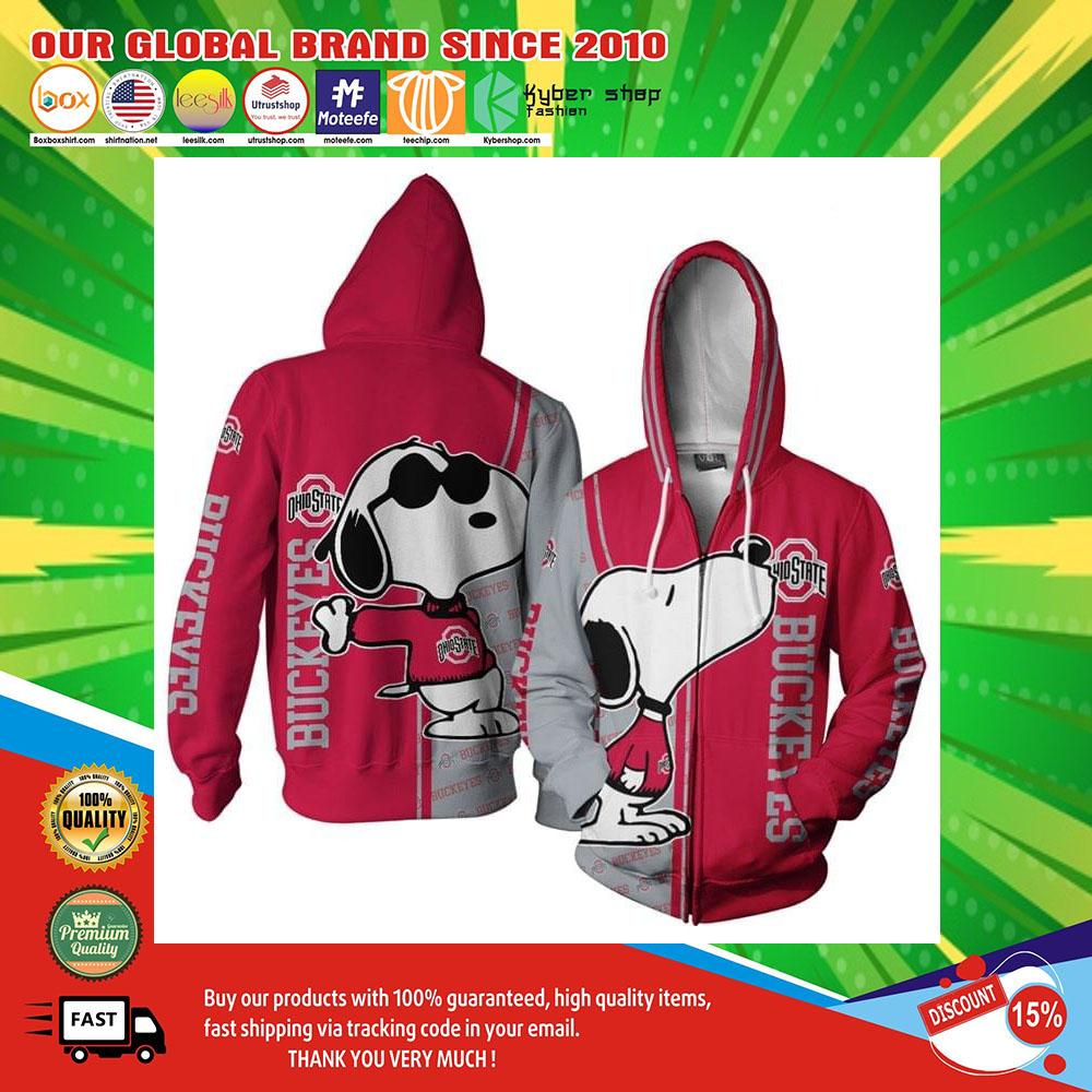 Snoopy doo Ohio Buckeyes 3d over print hoodie3