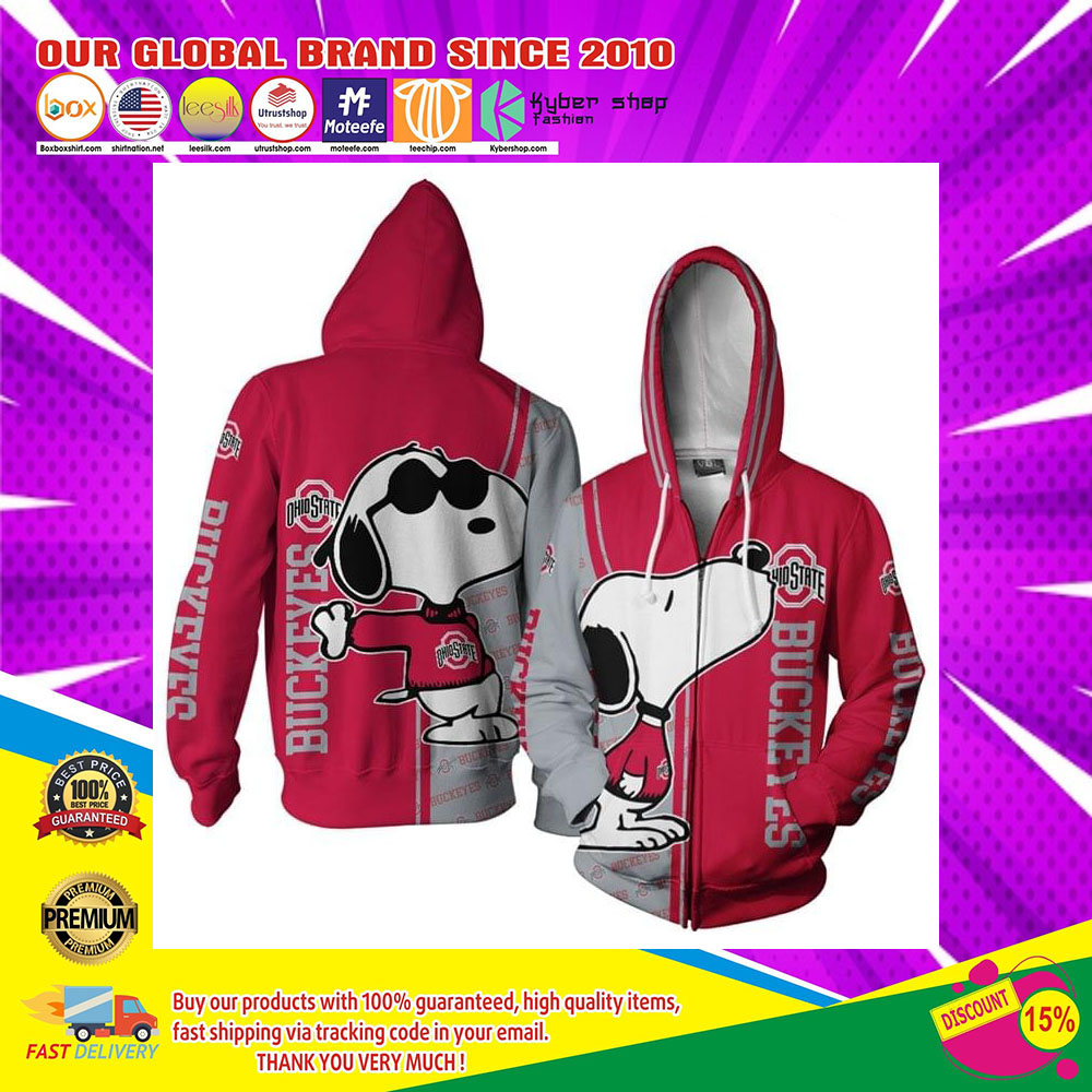 Snoopy doo Ohio Buckeyes 3d over print hoodie4