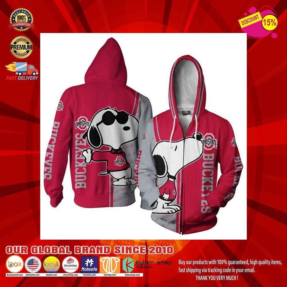 Snoopy doo Ohio Buckeyes 3d over print hoodie7