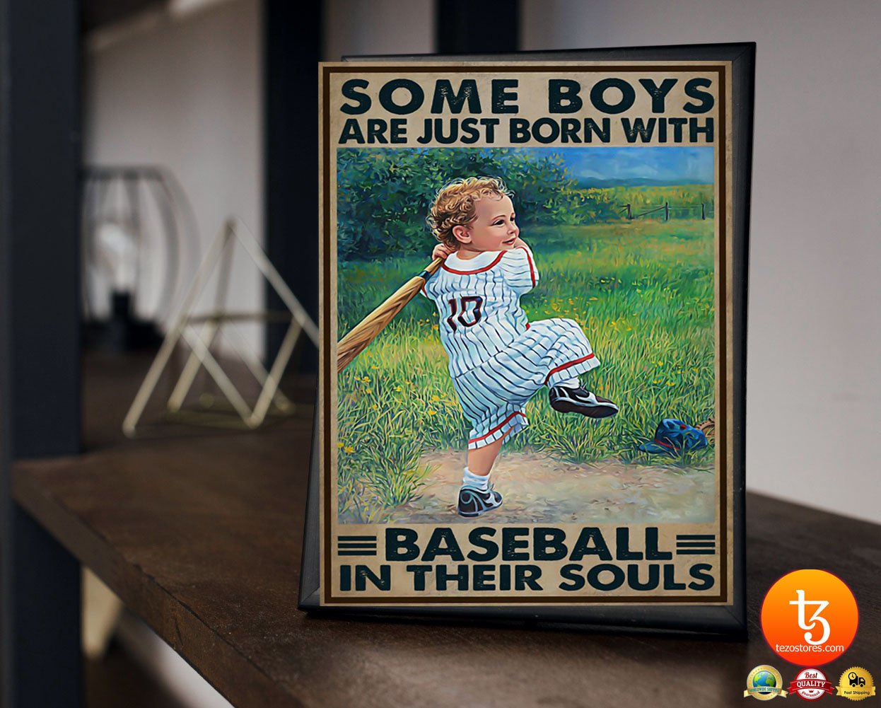 Some boys are just born with baseball in their souls poster 19