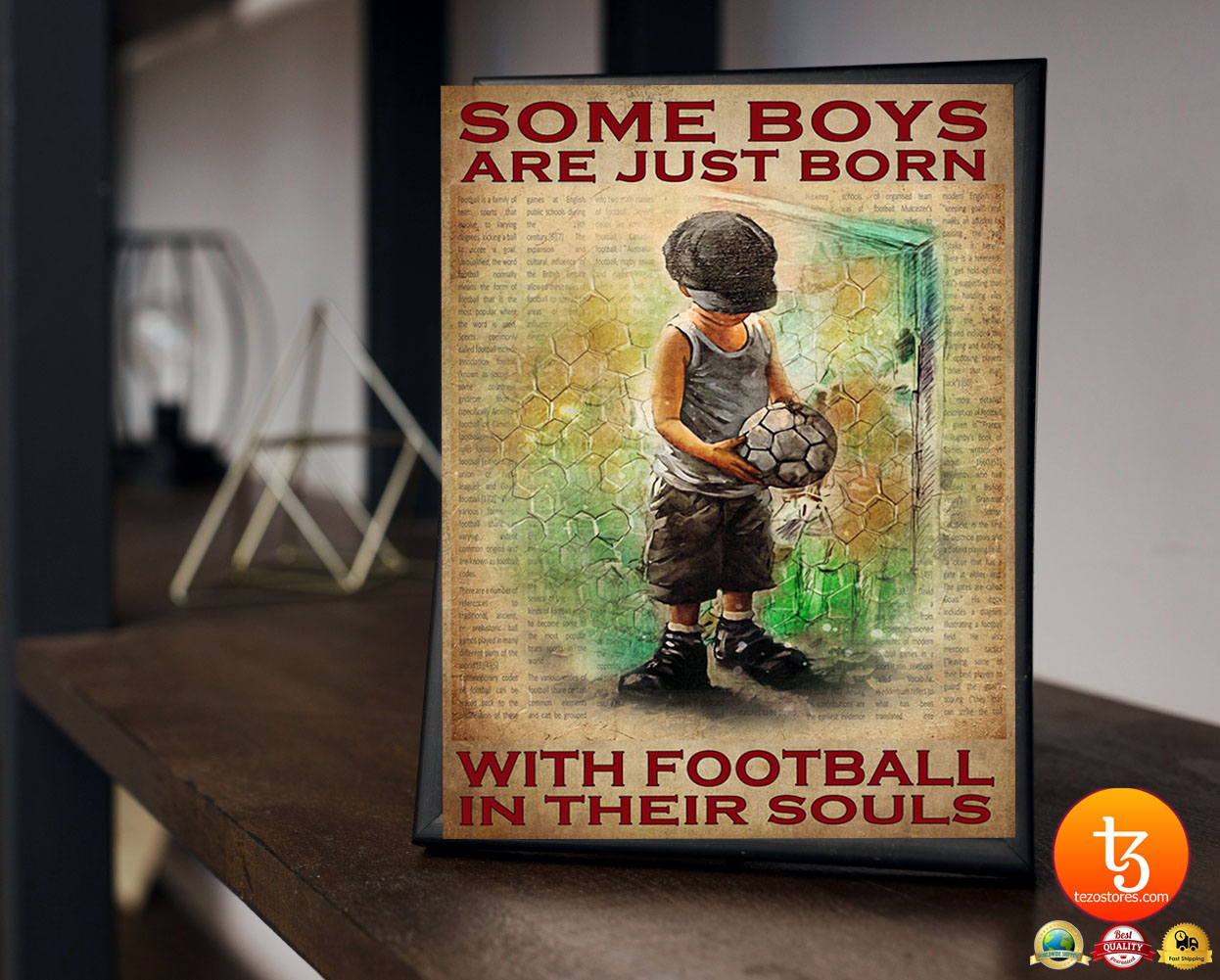 Some boys are just born with football in their souls poster 4