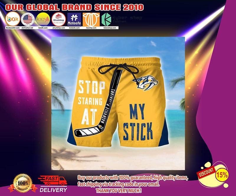 Stop starring at nashville predators shirt 3