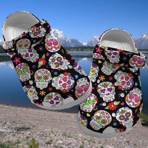 Sugar Skull crocs crocband clog 2