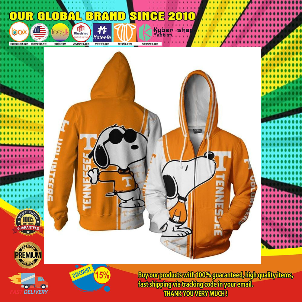 Tennessee Football Snoopy 3D Over Print Hoodie1