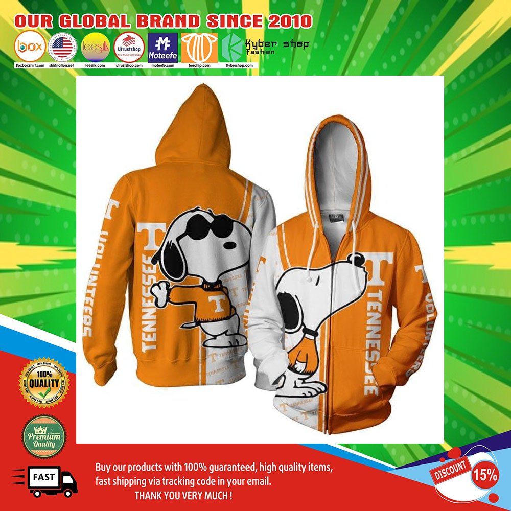 Tennessee Football Snoopy 3D Over Print Hoodie2