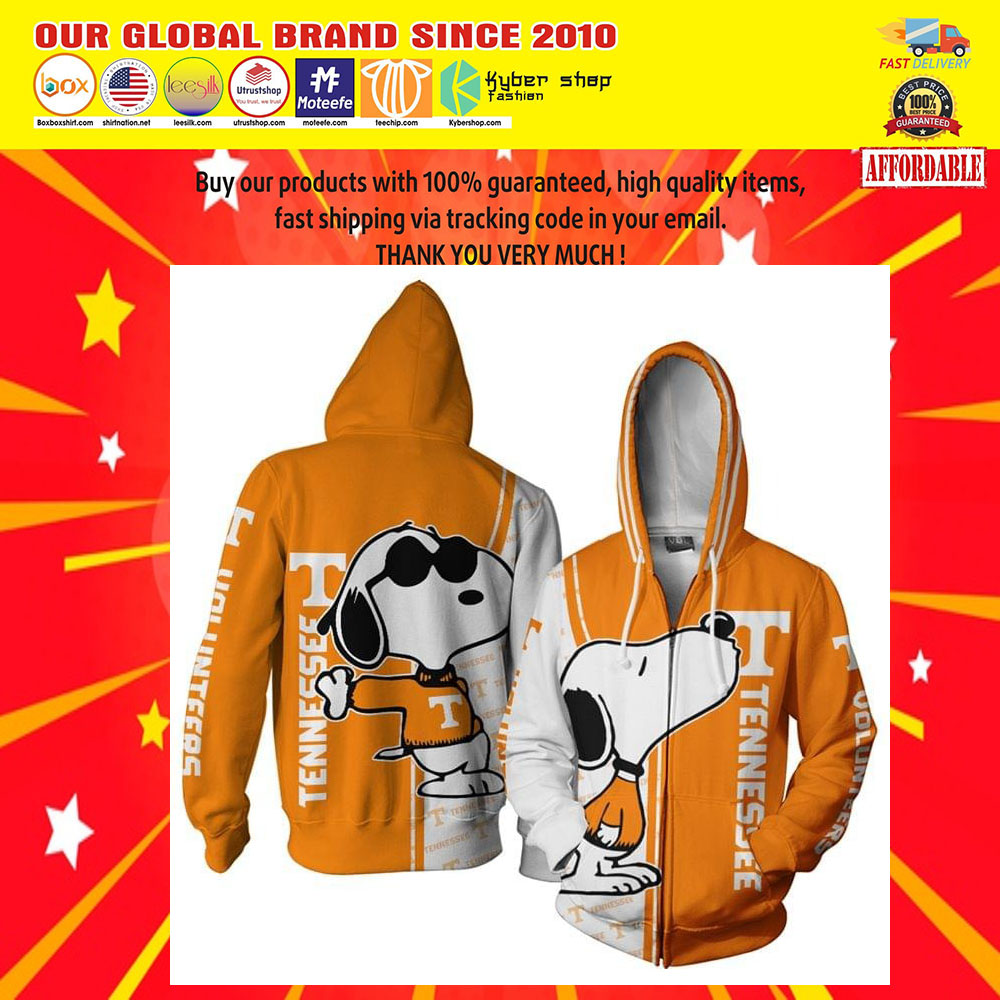 Tennessee Football Snoopy 3D Over Print Hoodie5