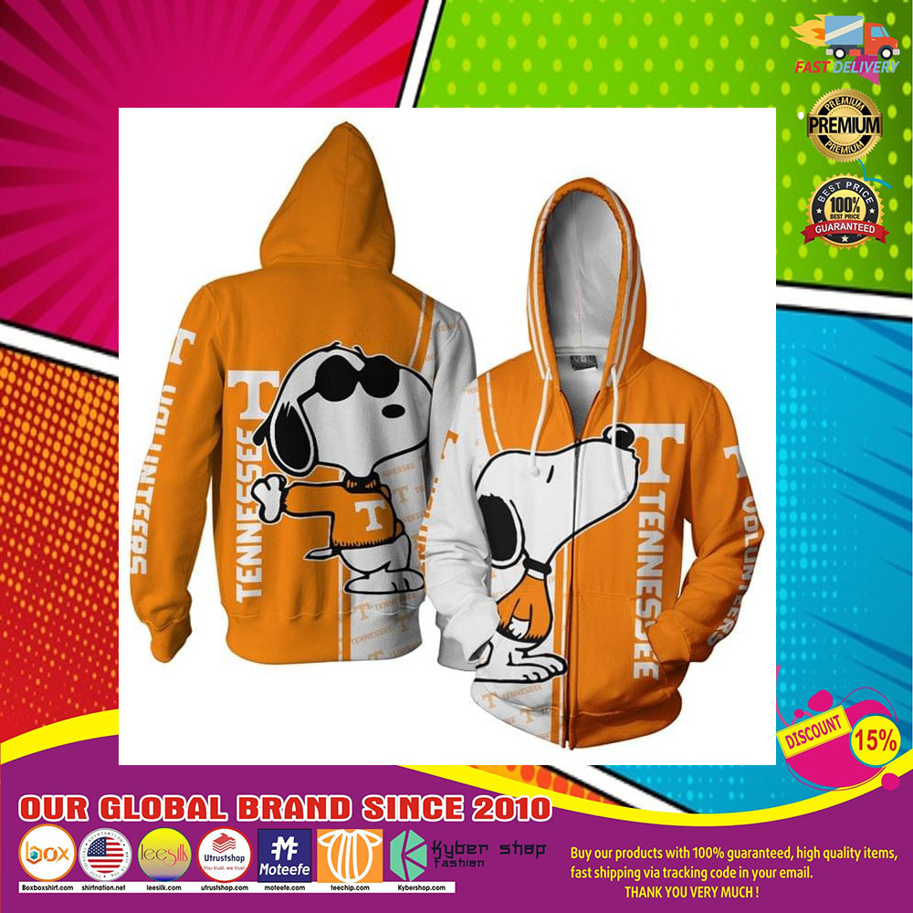 Tennessee Football Snoopy 3D Over Print Hoodie6