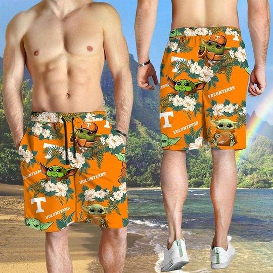 Tennessee Volunteers And Yoda Hawaiian And Beach Short 1