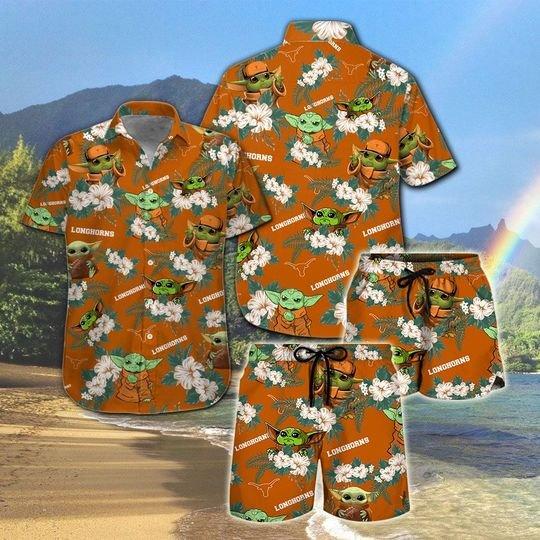 Texas Longhorns Yoda Hawaiian And Beach Short 11