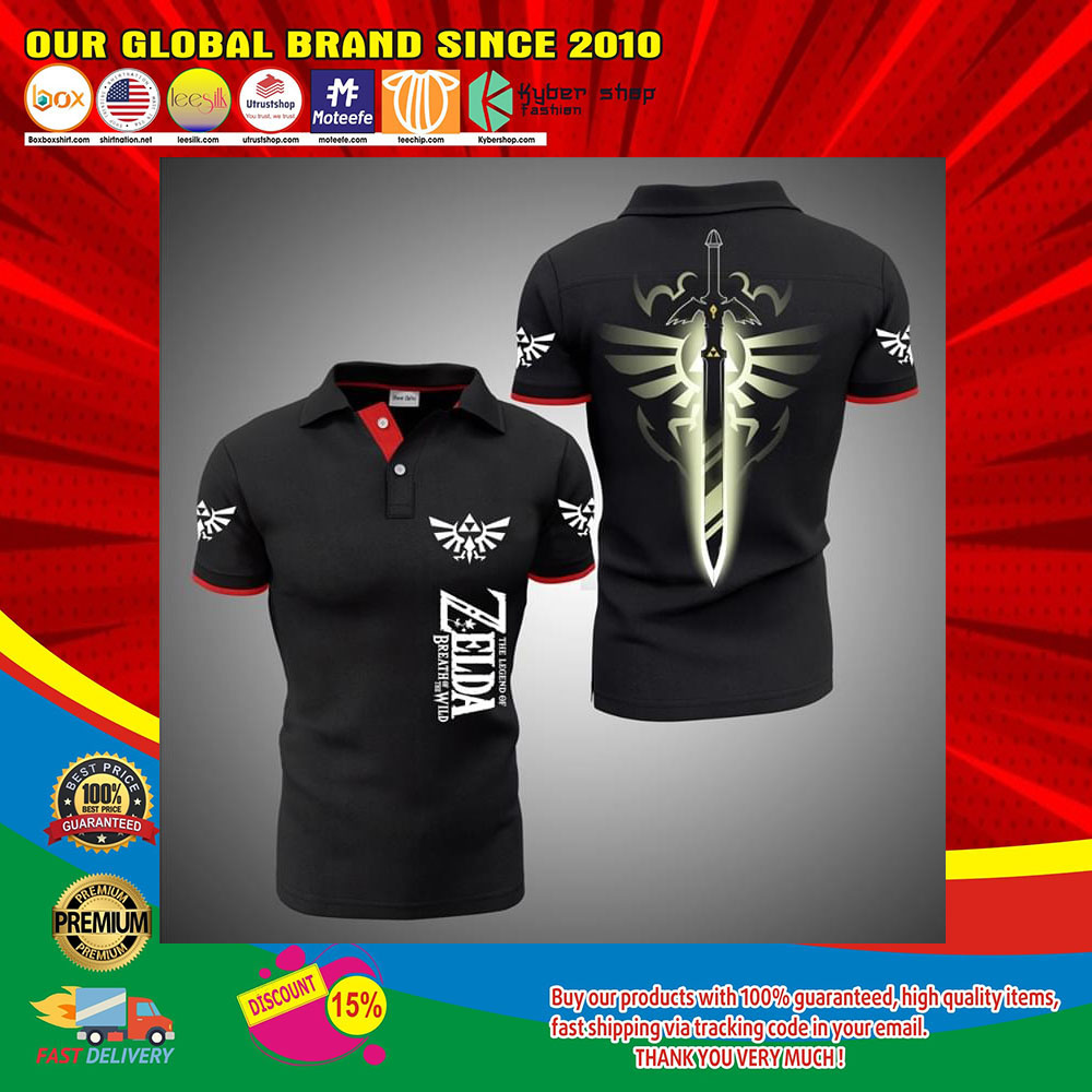 The Legend Of Zelda Breath Of The Wild 3d polo shirt