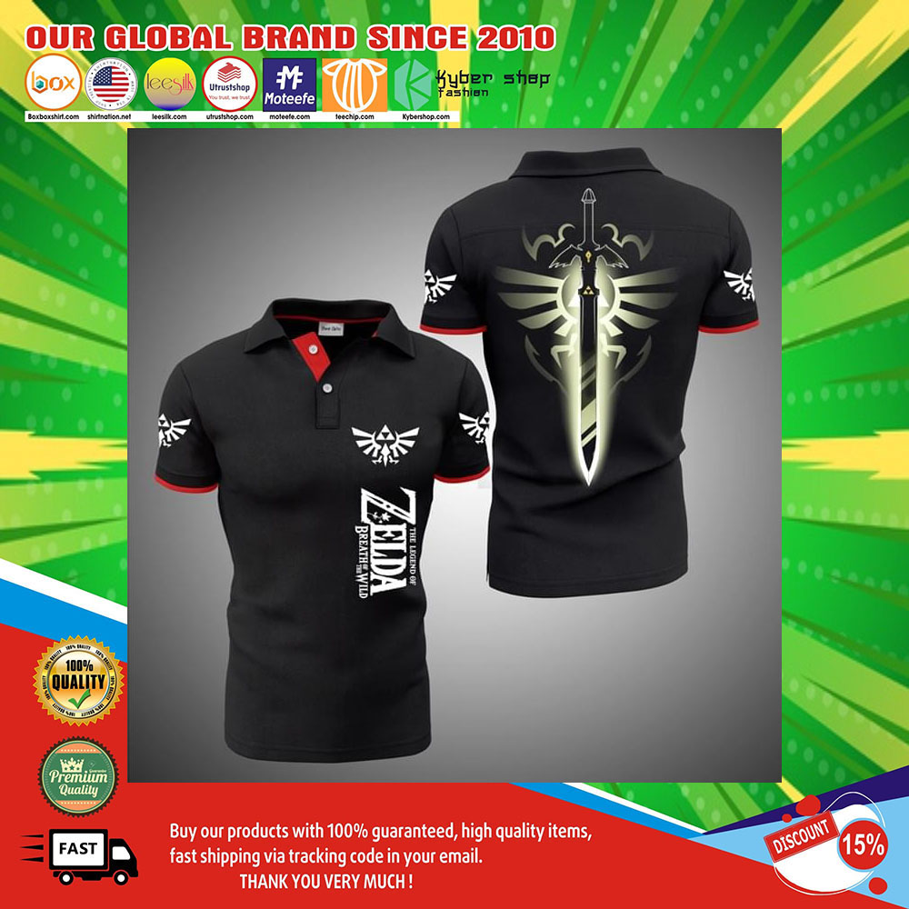The Legend Of Zelda Breath Of The Wild 3d polo shirt2