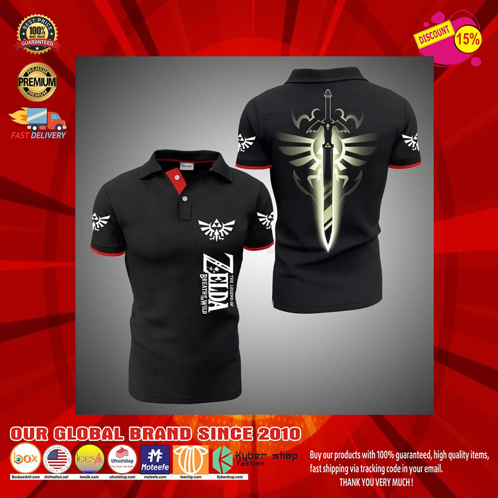 The Legend Of Zelda Breath Of The Wild 3d polo shirt27