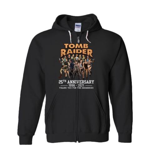 Tom raider 25th anniversary 1996 2021 thank you for the memories shirt 13