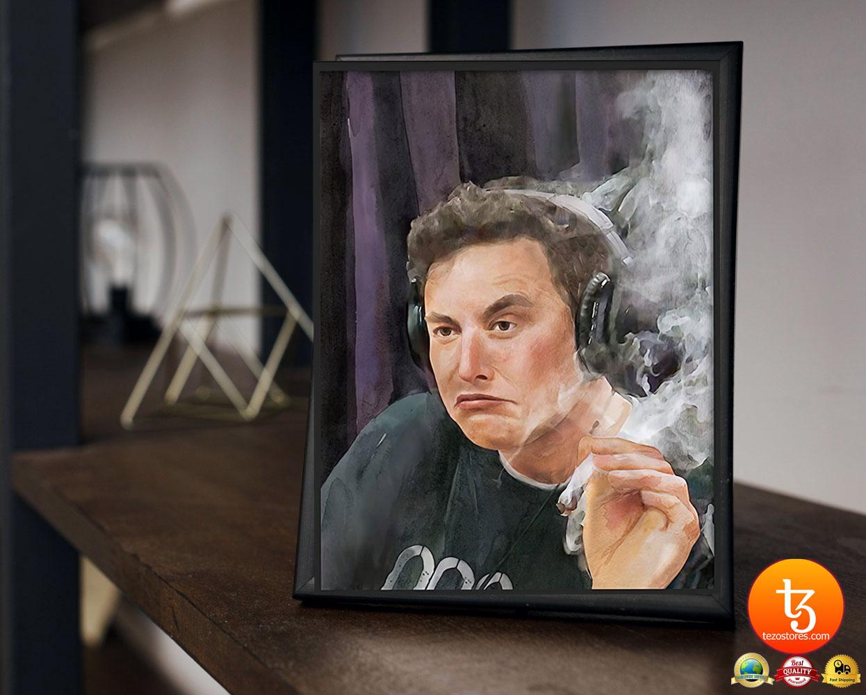 Trippy Room Elon Musk poster 23