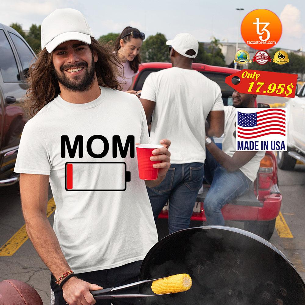 Womens mom battery low shirt 19