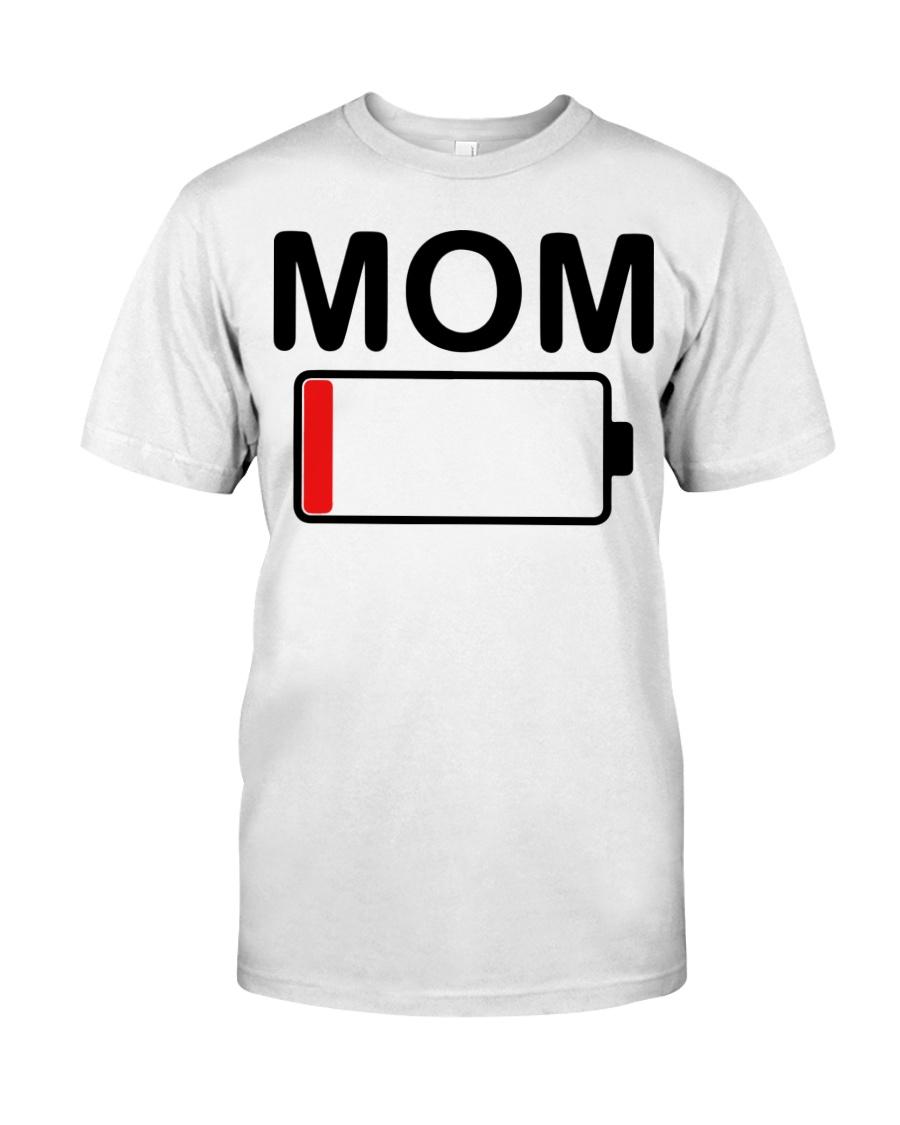 Womens mom battery low shirt 21