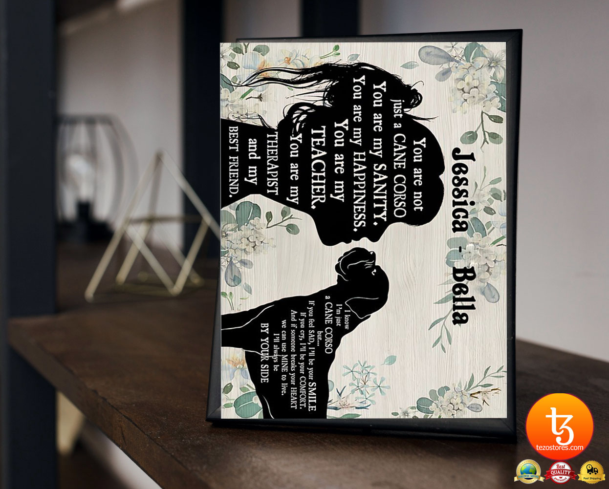 You are not just a cane corso you are my sanity custom personalized name poster 19