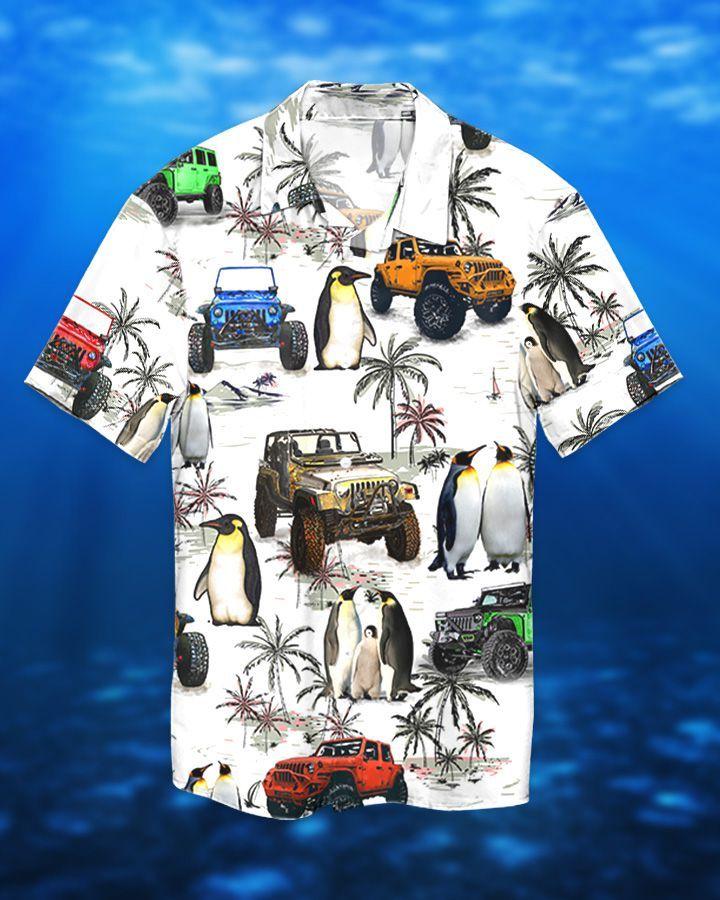 1 Jeep ocean peguin hawaiian shirt and short 1