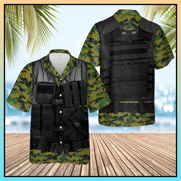 1 US Marine Cops Tactical Vest Hawaii Shirt 3