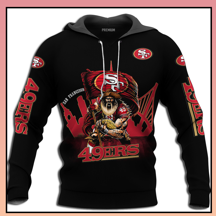 San francisco 49ers super bowl 3d over print hoodie