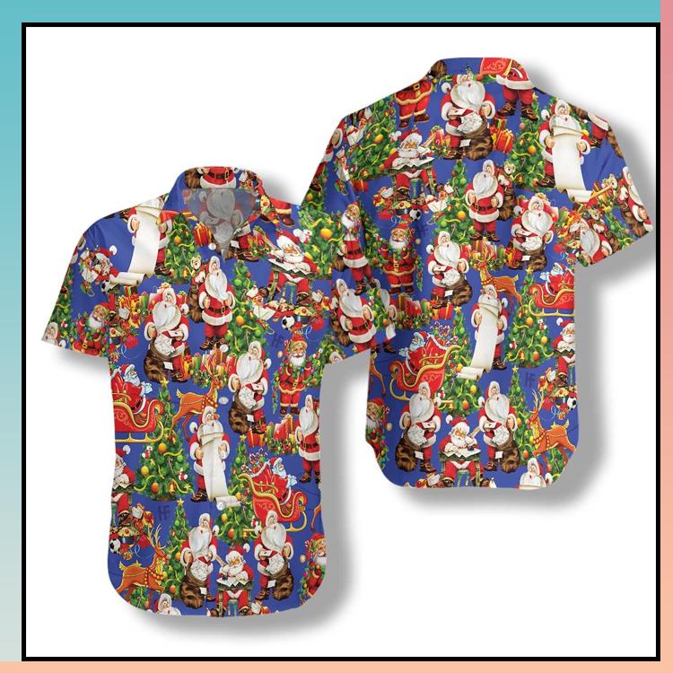 13 Merry Christmas Santa Claus hawaiian shirt 1 1