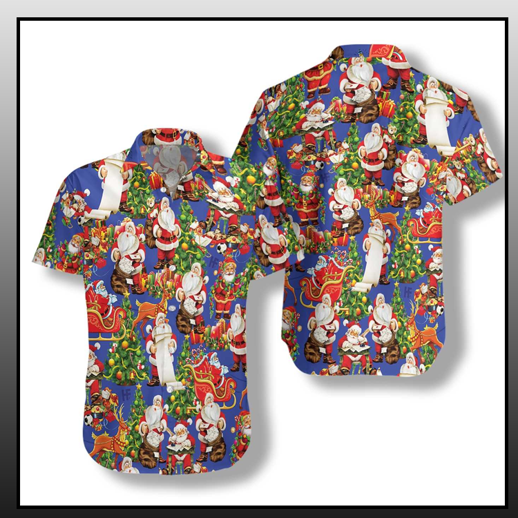 13 Merry Christmas Santa Claus hawaiian shirt 2 1
