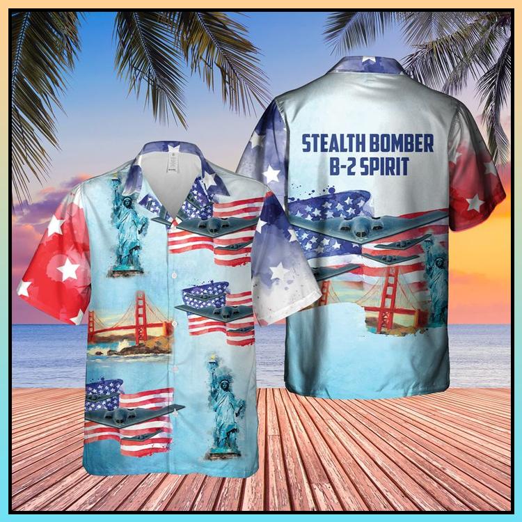 13 Stealth Bomber B 2 Spirit Sleeve Hawaiian Shirt 3