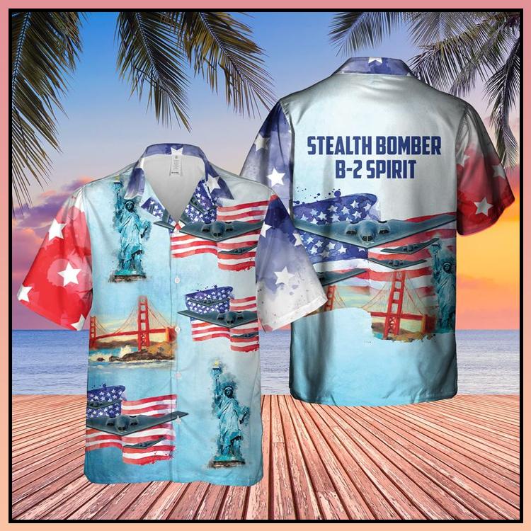 13 Stealth Bomber B 2 Spirit Sleeve Hawaiian Shirt 4