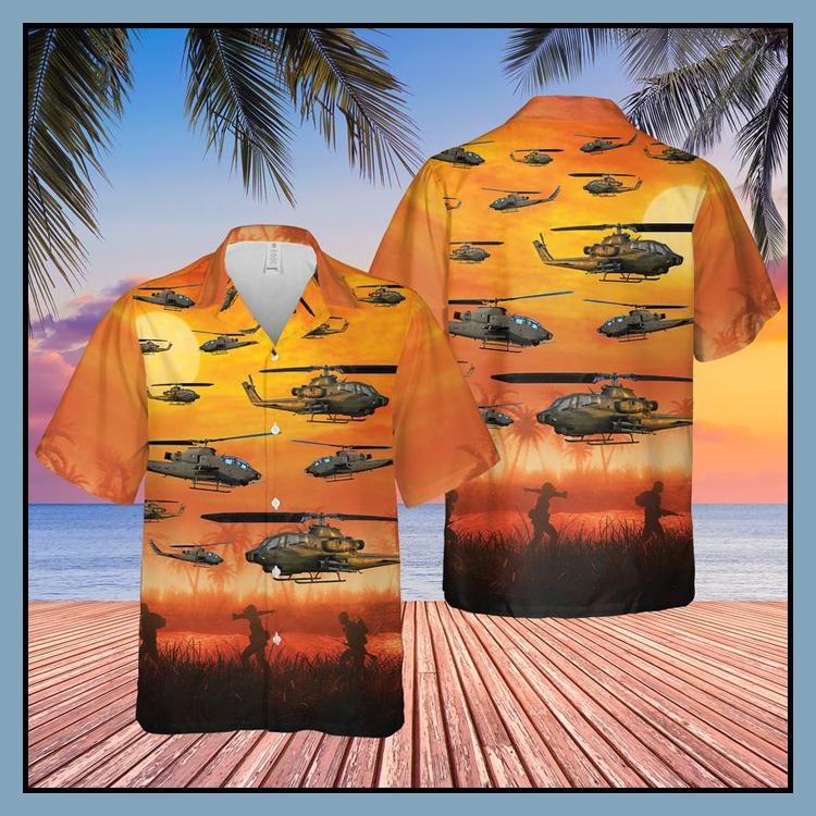 13 US Army AH 1F Cobra Hawaiian Shirt Shorts2