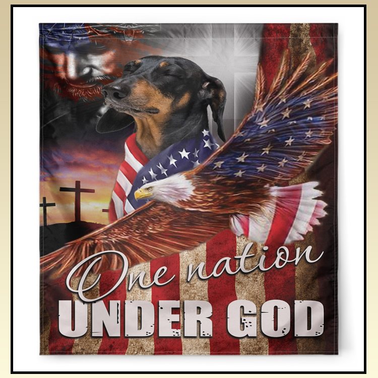 15 Dachshund One Nation Under God Flags 1 1