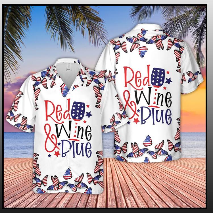 17 Red Wine Blue Hawaiian Shirt 2