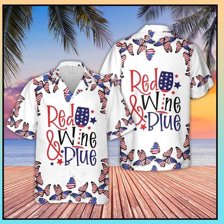 17 Red Wine Blue Hawaiian Shirt 3