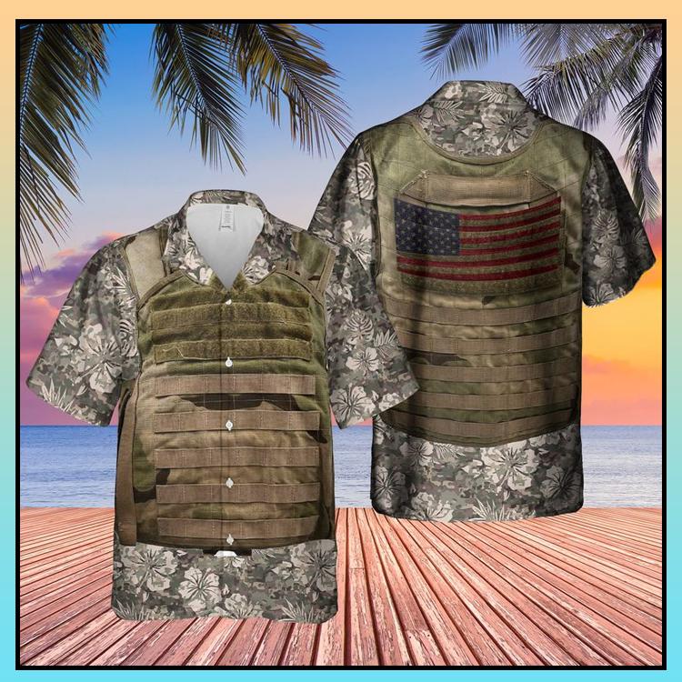 19 US Army Tactical Vest Hawaiian Shirt 4