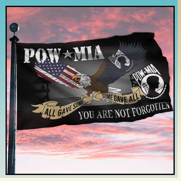 2 Eagle pow mia all gave some you are not forgotten flag 1 1