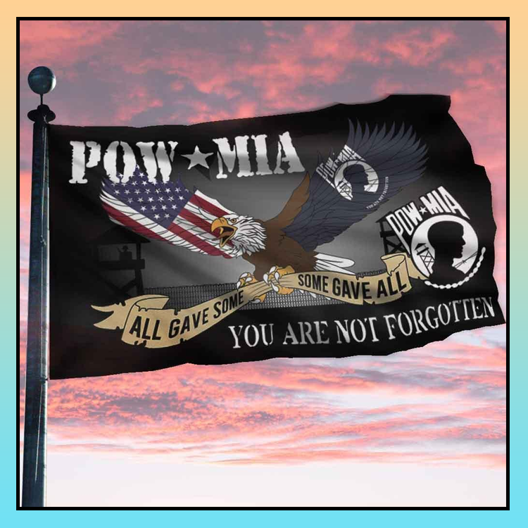 2 Eagle pow mia all gave some you are not forgotten flag 3 1
