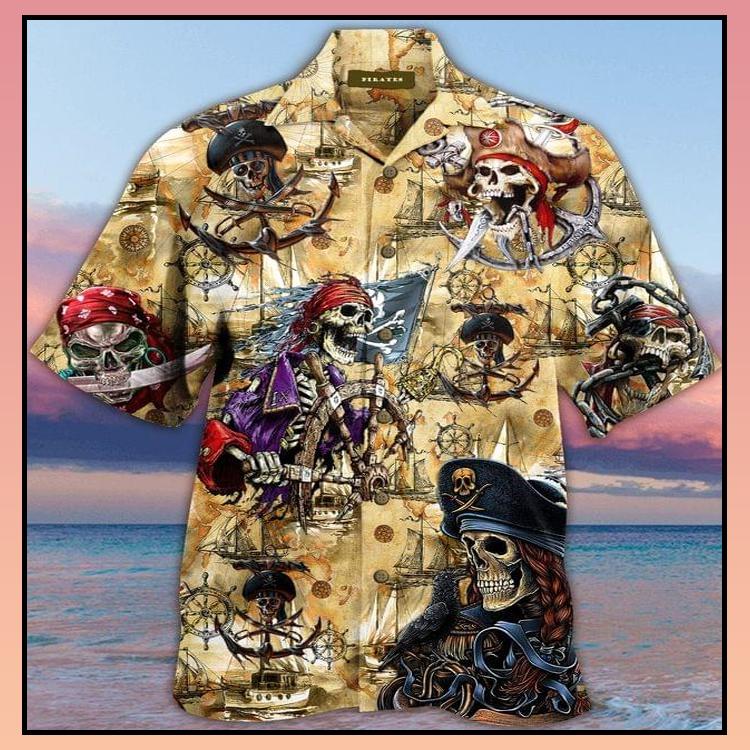 2 Skull Pirate Hawaiian Shirt 1 1