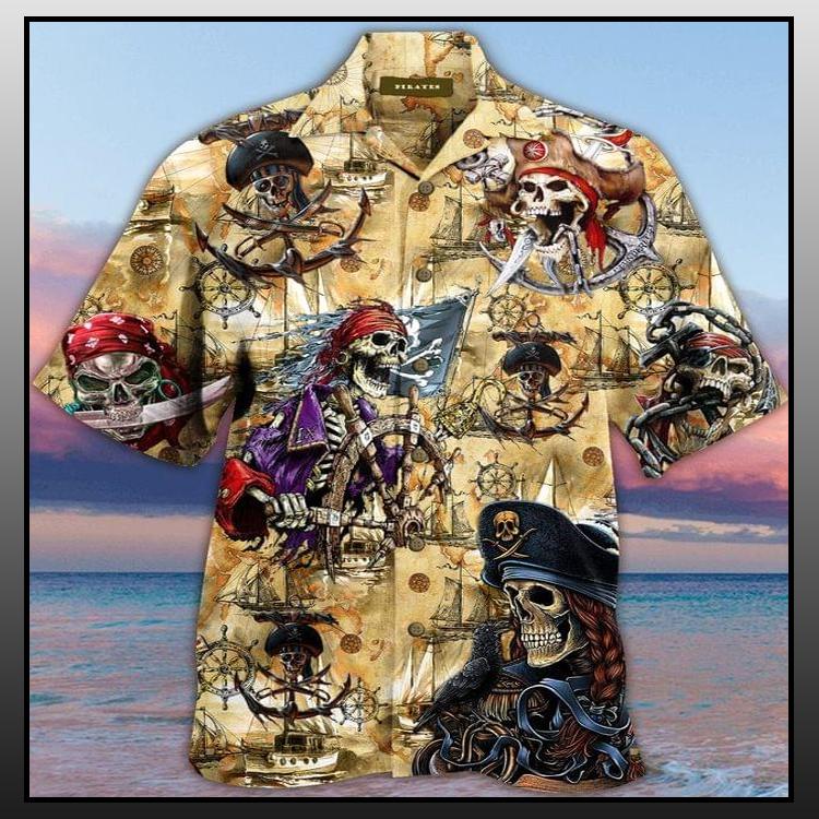 2 Skull Pirate Hawaiian Shirt 2 1