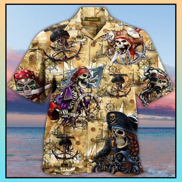 2 Skull Pirate Hawaiian Shirt 3 1