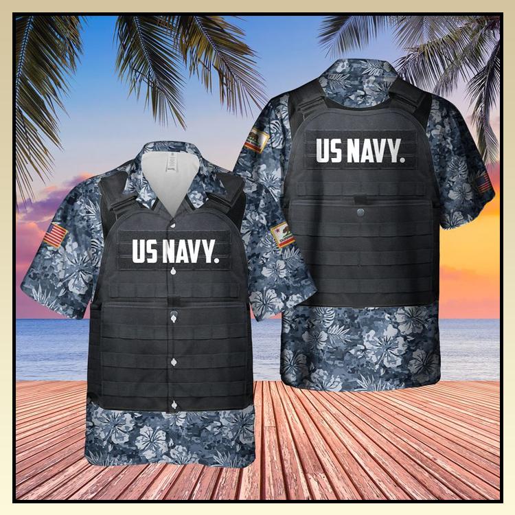 20 USN California Tactical Vest Hawaiian Shirt 1