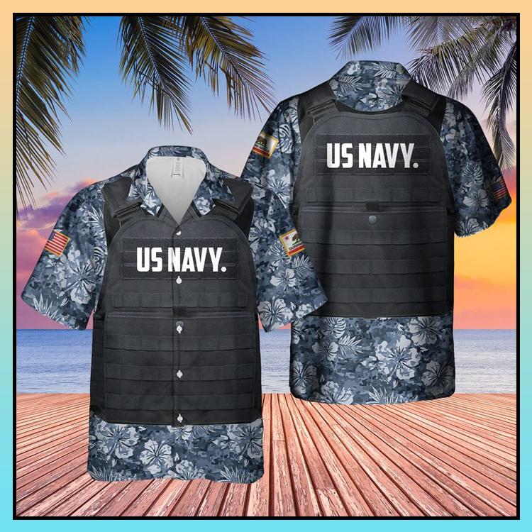 20 USN California Tactical Vest Hawaiian Shirt 3