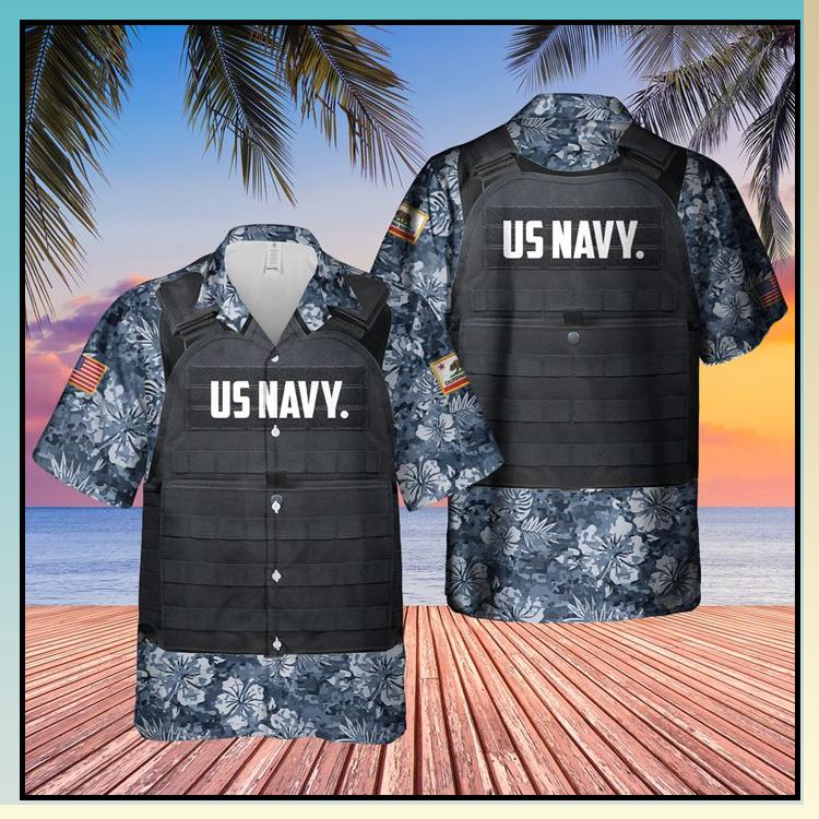 20 USN California Tactical Vest Hawaiian Shirt 4
