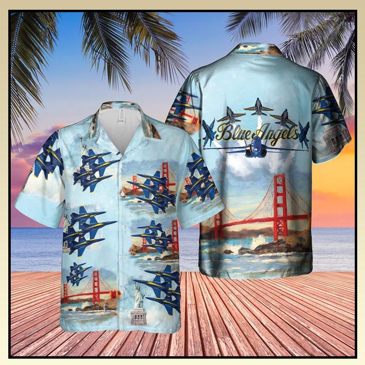 23 Blue Angels Air Show USN Hawaiian Shirt 4
