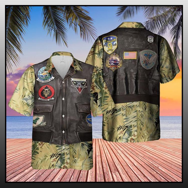 26 USN Flight Jacket Patches AOP Hawaiian Shirt 2