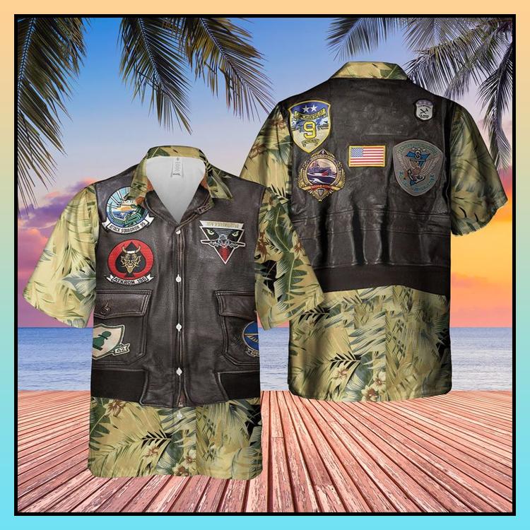 26 USN Flight Jacket Patches AOP Hawaiian Shirt 3
