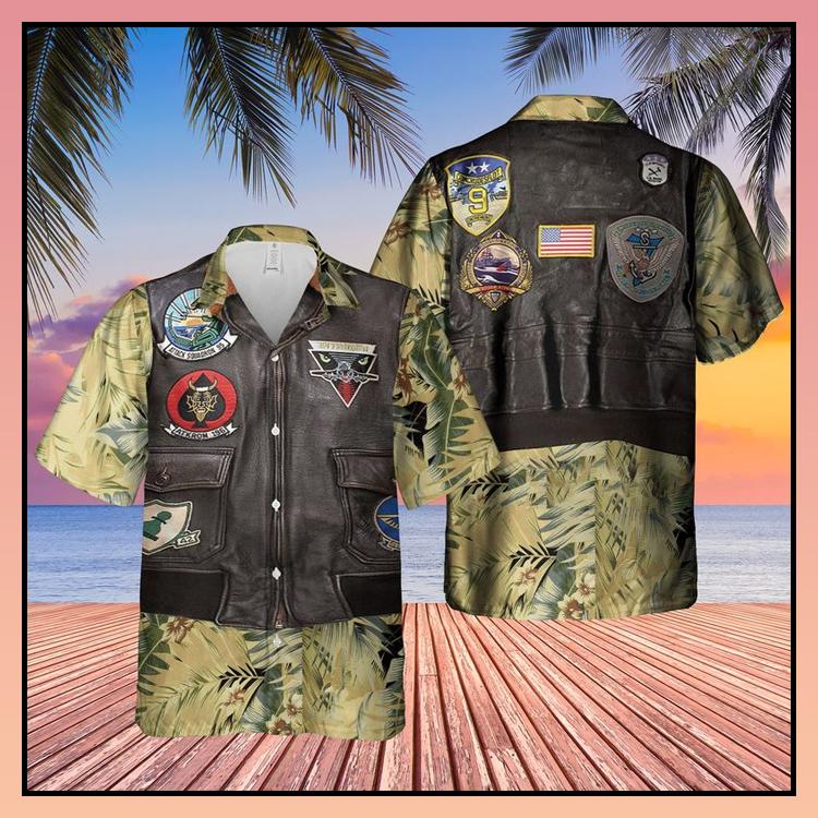 26 USN Flight Jacket Patches AOP Hawaiian Shirt 4
