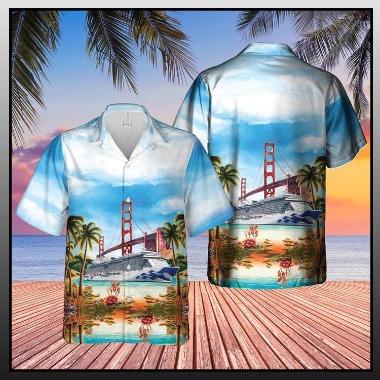 3 Cruise Ship Golden Gate Bridge Hawaiian Shirt2