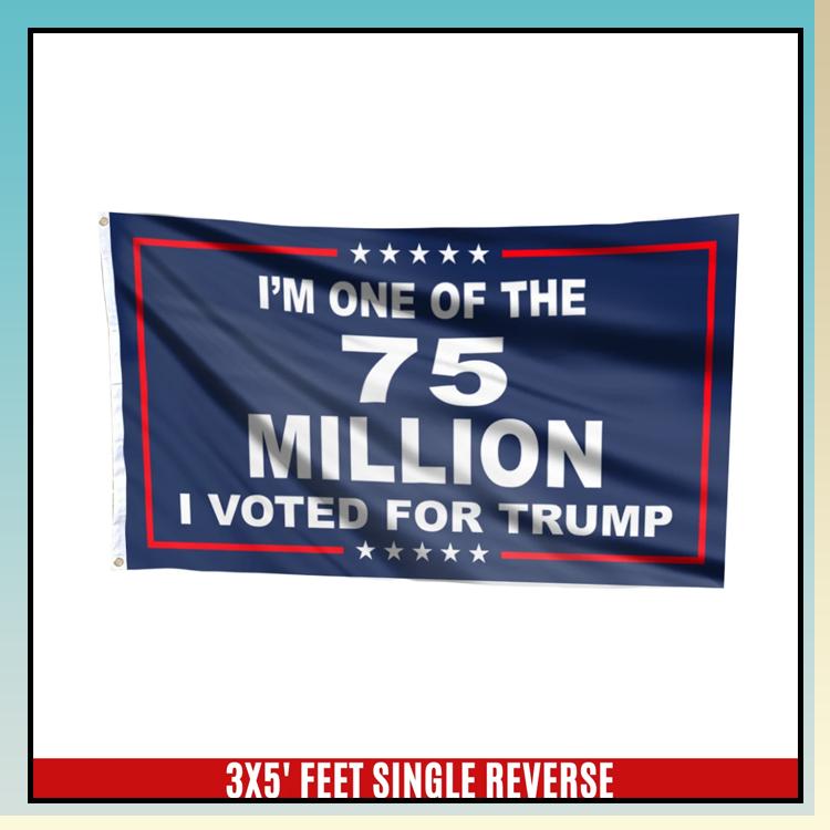 3 Im one of 75 million I voted for trump flag 2 1