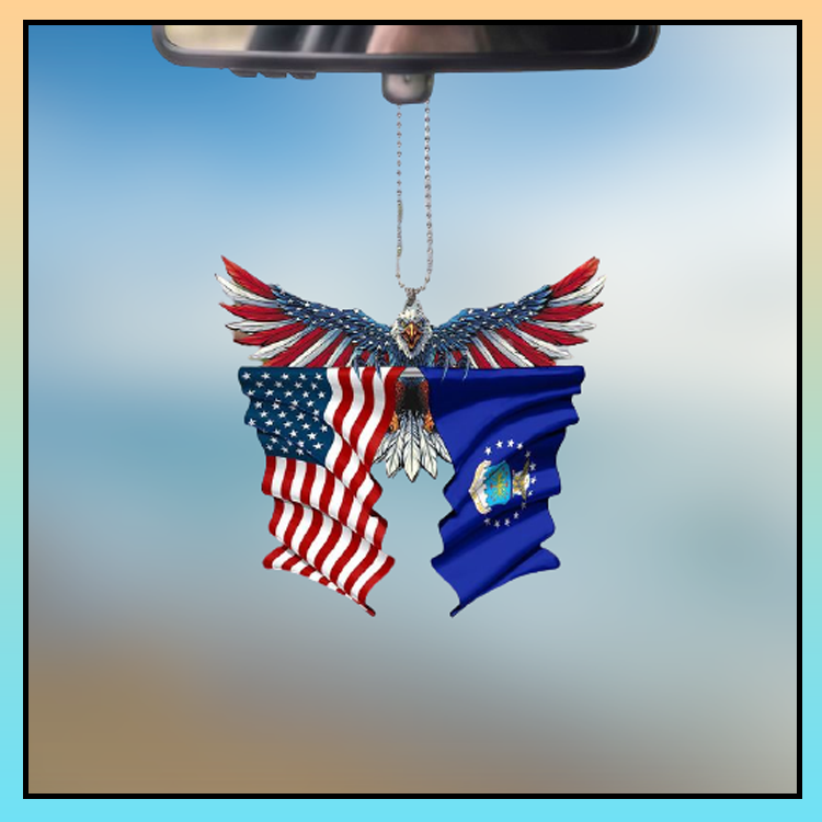 Air force United States American Eagles flag car hanging ornament